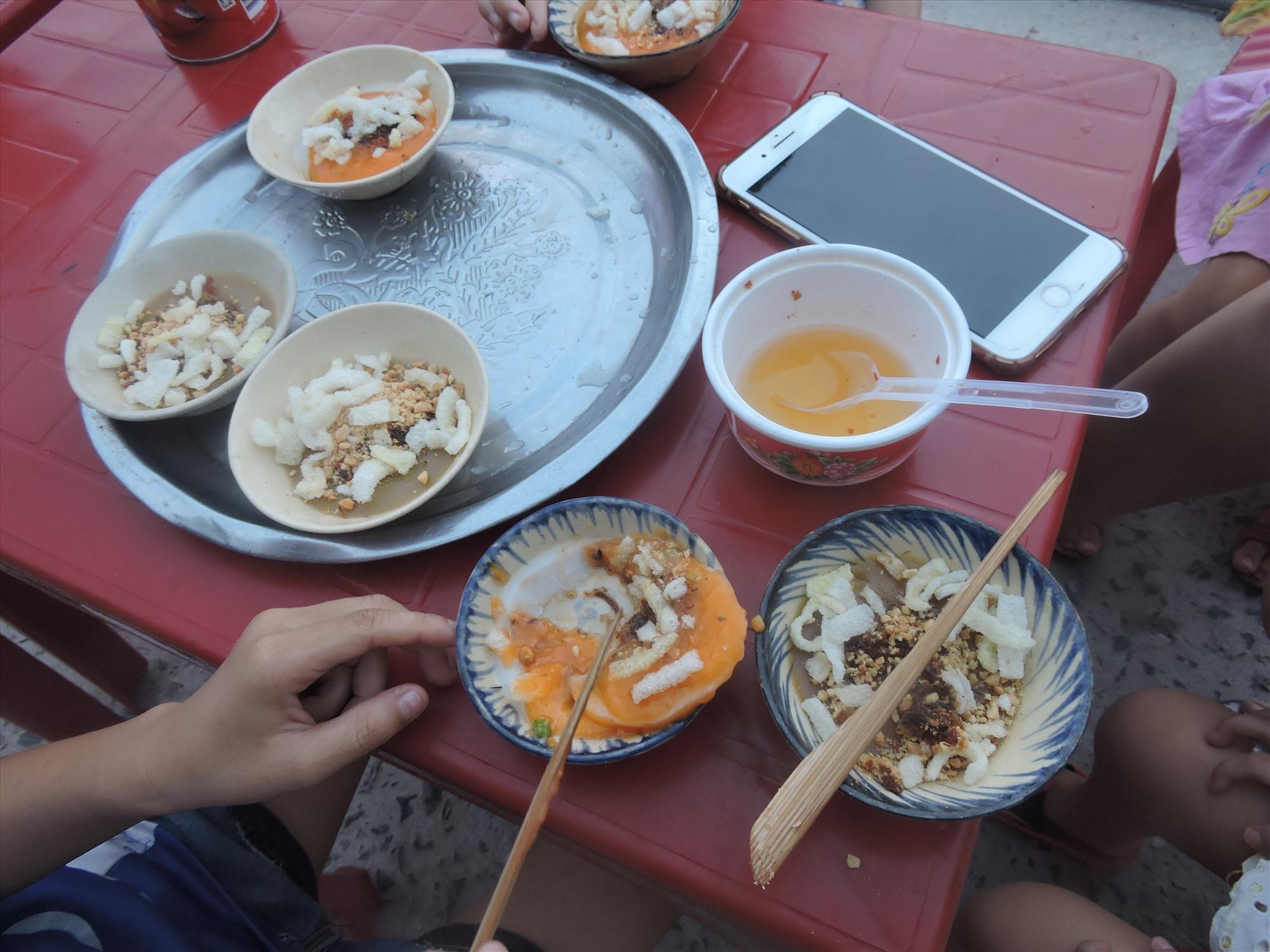 Ở Cù Lao Chàm có cả bánh bèo ngọt.