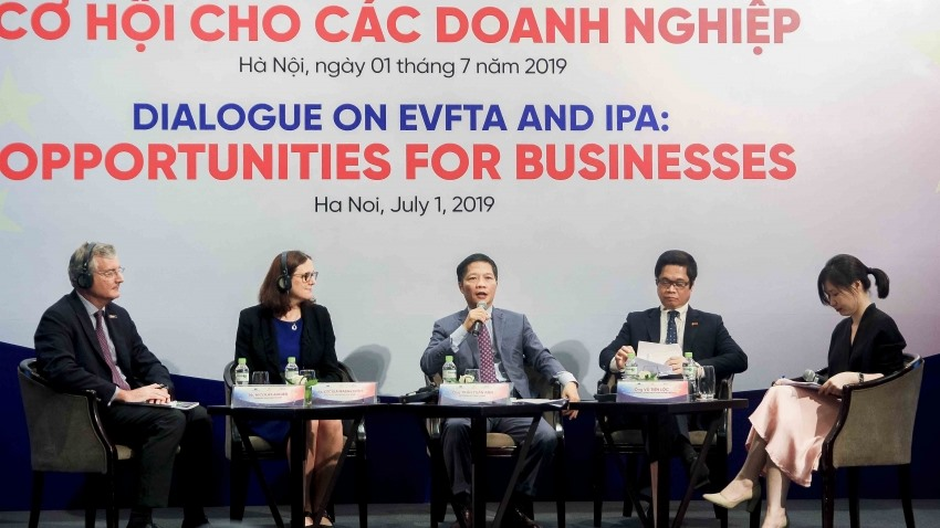 The dialogue on the Challenges from EVFTA to Vietnamese SMEs. Photo: vir.com.vn