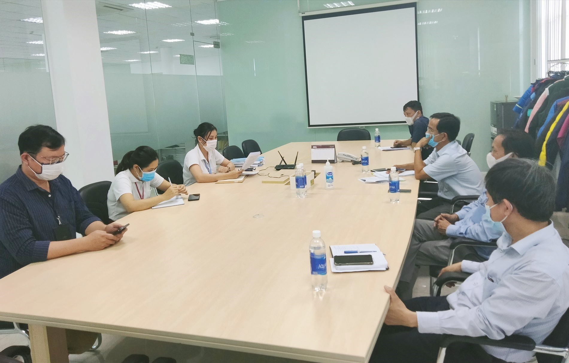 Huyện Thăng Bình kiểm tra phương án phòng chống dịch đối với một doanh nghiệp vào cuối tháng 7 vừa qua