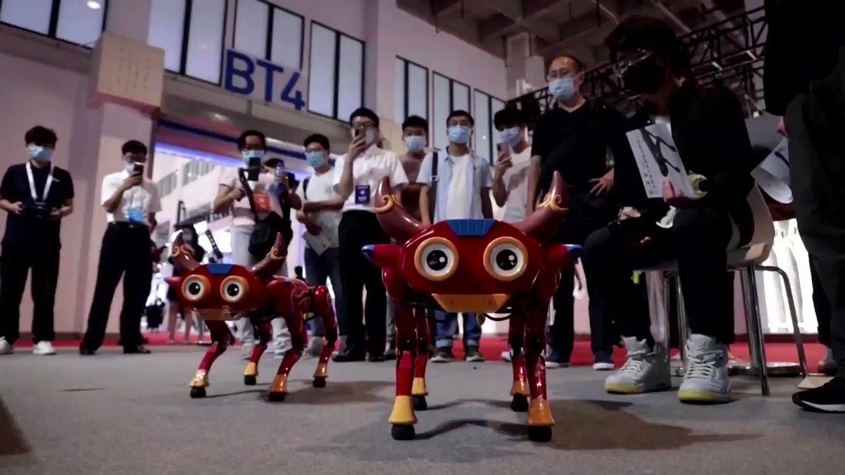 Những chú chó robot có thể cử động linh hoạt, thậm chí là nhảy múa. Ảnh: Reuters