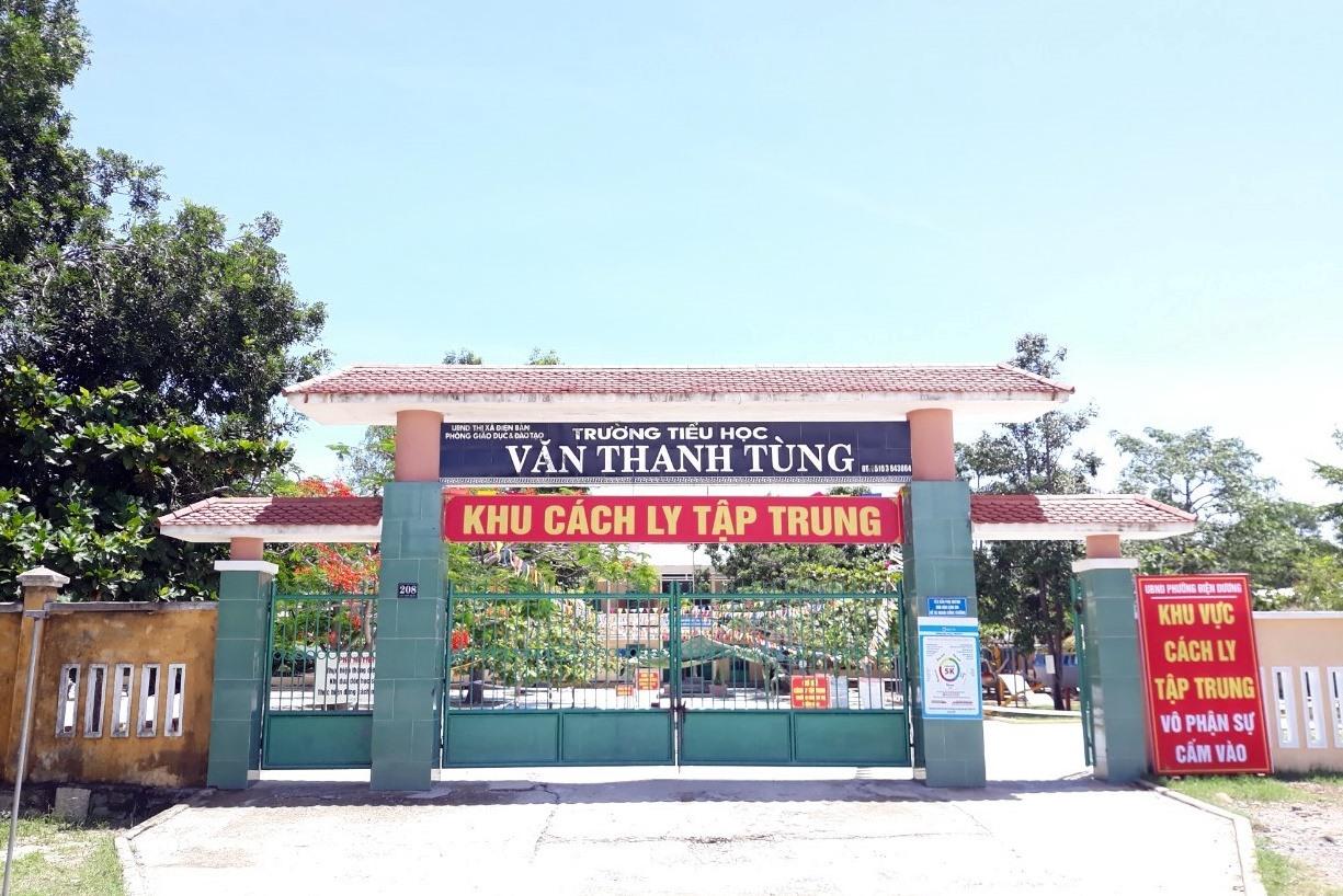 Trường TH Văn Thanh Tùng được Đồn Biên phòng Cửa Đại hỗ trợ lập thành khu cách ly tập trung
