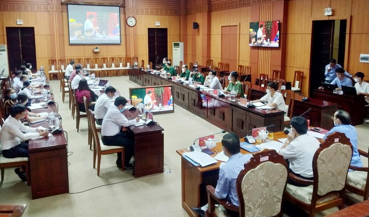 Tại hội nghị sơ kết 6 tháng đầu năm 2021, ngành kiểm tra Đảng của tỉnh xác định tăng cường nội dung kiểm tra khi dấu hiệu vi phạm trên các lĩnh vực quản lý đất đai, tài chính, đầu tư. Ảnh: N.Đ