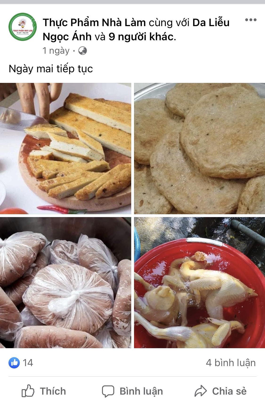 Thực phẩm nhà làm được rao bán khá thoải mái trên các trang mạng xã hội. Ảnh: X.H