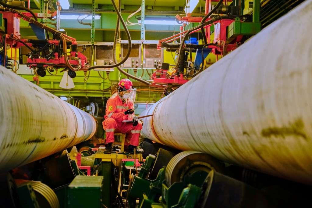 Đường ống dẫn khí đốt vào châu Âu. Ảnh: ceenergynews