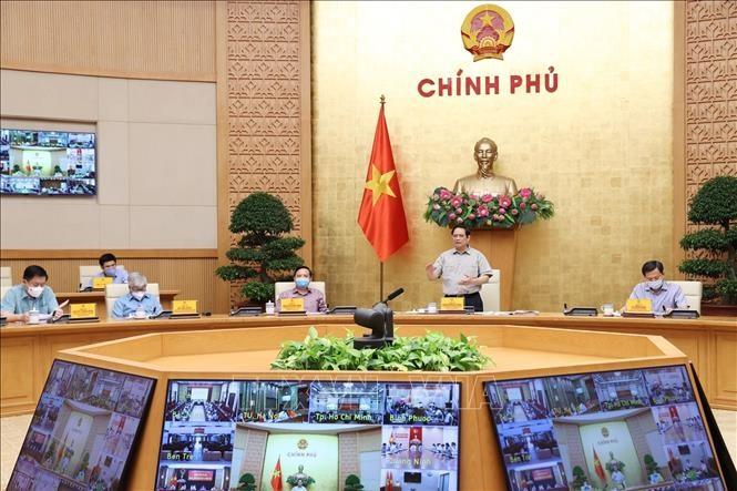 Thủ tướng Phạm Minh Chính phát biểu kết luận cuộc họp. Ảnh: Dương Giang/TTXVN