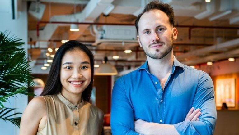 Fonos co-founders Xuan Nguyen and Oscar Jesionek