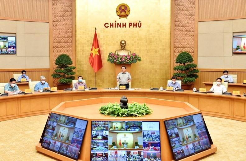 Thủ tướng Phạm Minh Chính chủ trì cuộc họp Ban Chỉ đạo Quốc gia phòng chống COVID-19.