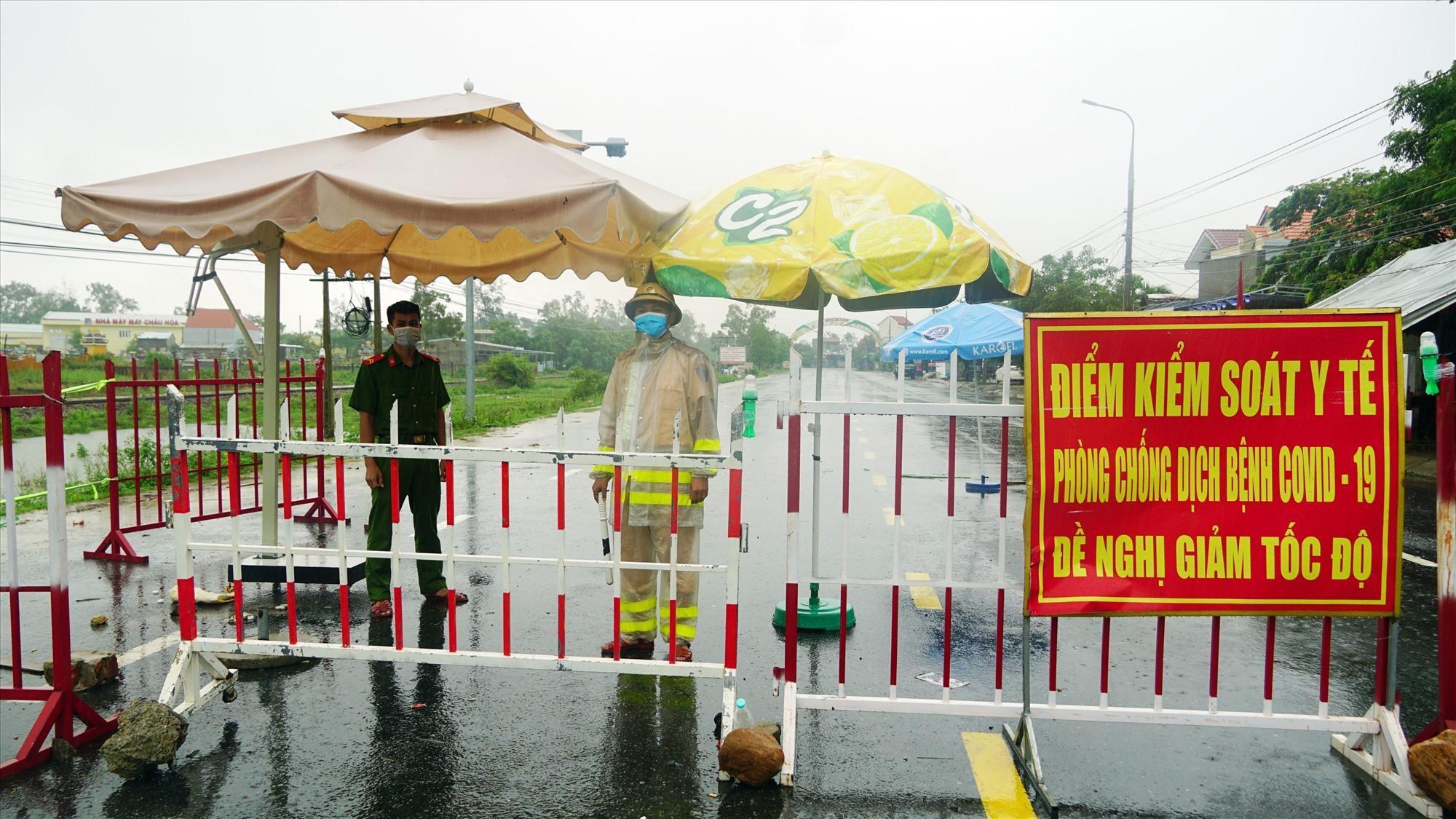 Chốt kiểm soát trên địa bàn Quảng Nam. Ảnh: P.T.H