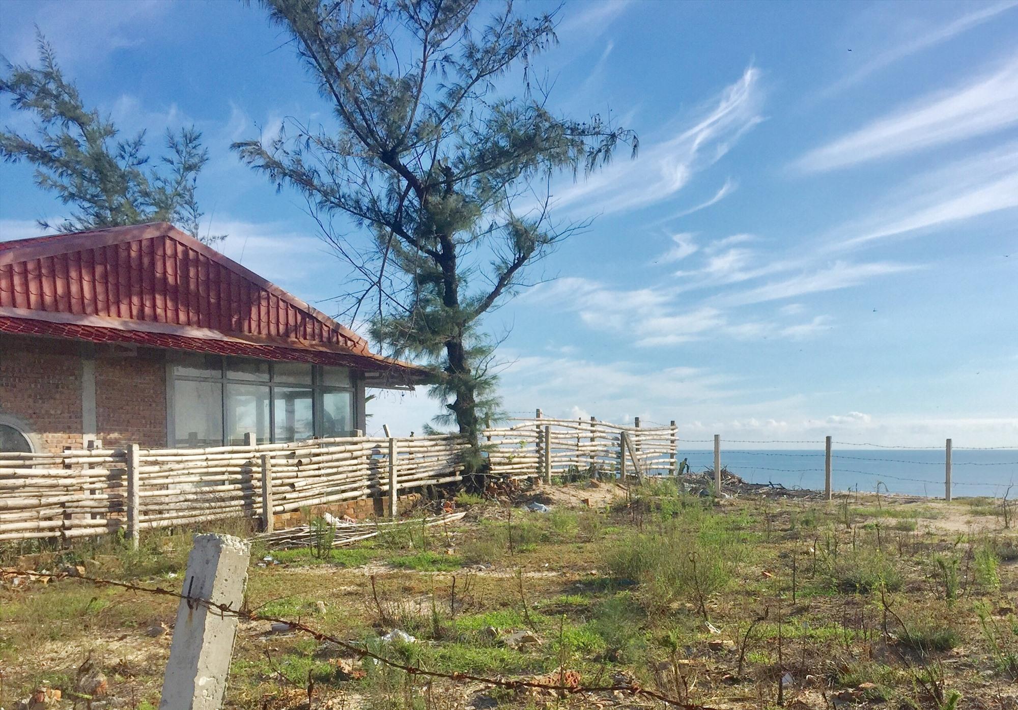 Nhiều thửa đất ven biển khu vực làng bích họa (xã Tam Thanh, TP.Tam Kỳ) đã được chuyển nhượng, nhưng người mua không có nhu cầu xây dựng mà chỉ chờ bán lại. Ảnh: T.Minh