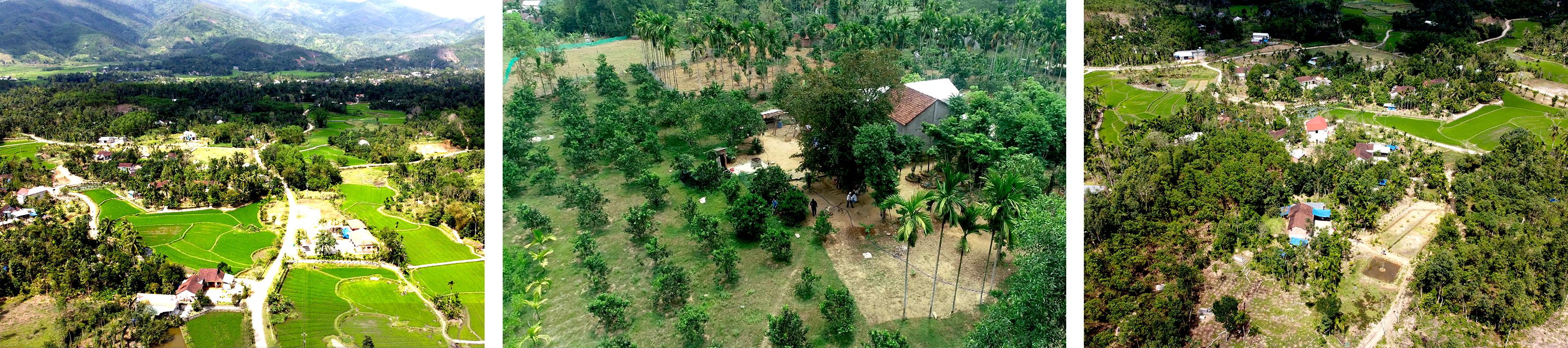 Quy hoạch kinh tế vườn qua góc nhìn flycam. Ảnh: Q.Q.Y