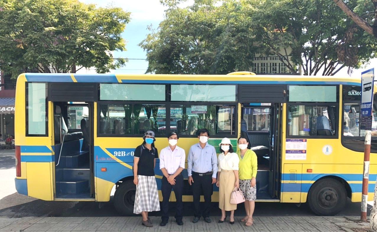 Bắt đầu ngày 1.10, xe buýt tuyến Tam Kỳ - sân bay Chu Lai sẽ hoạt động trở lại. Ảnh: CT