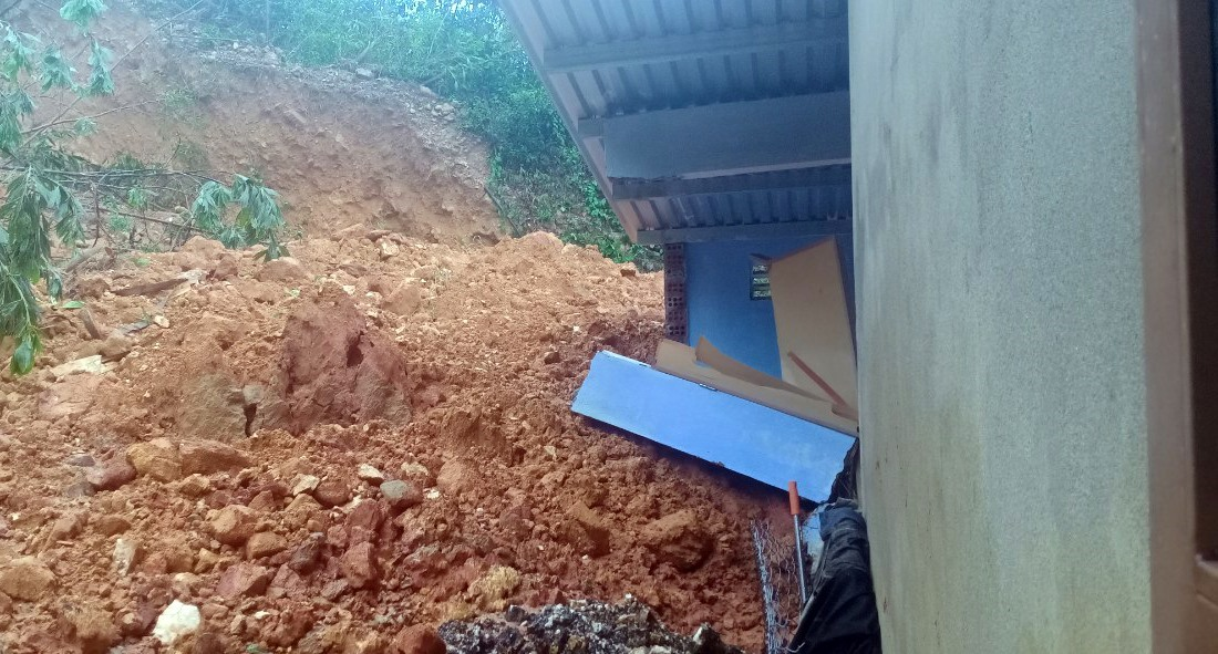 A landslide in Nam Tra My district, Quang Nam province
