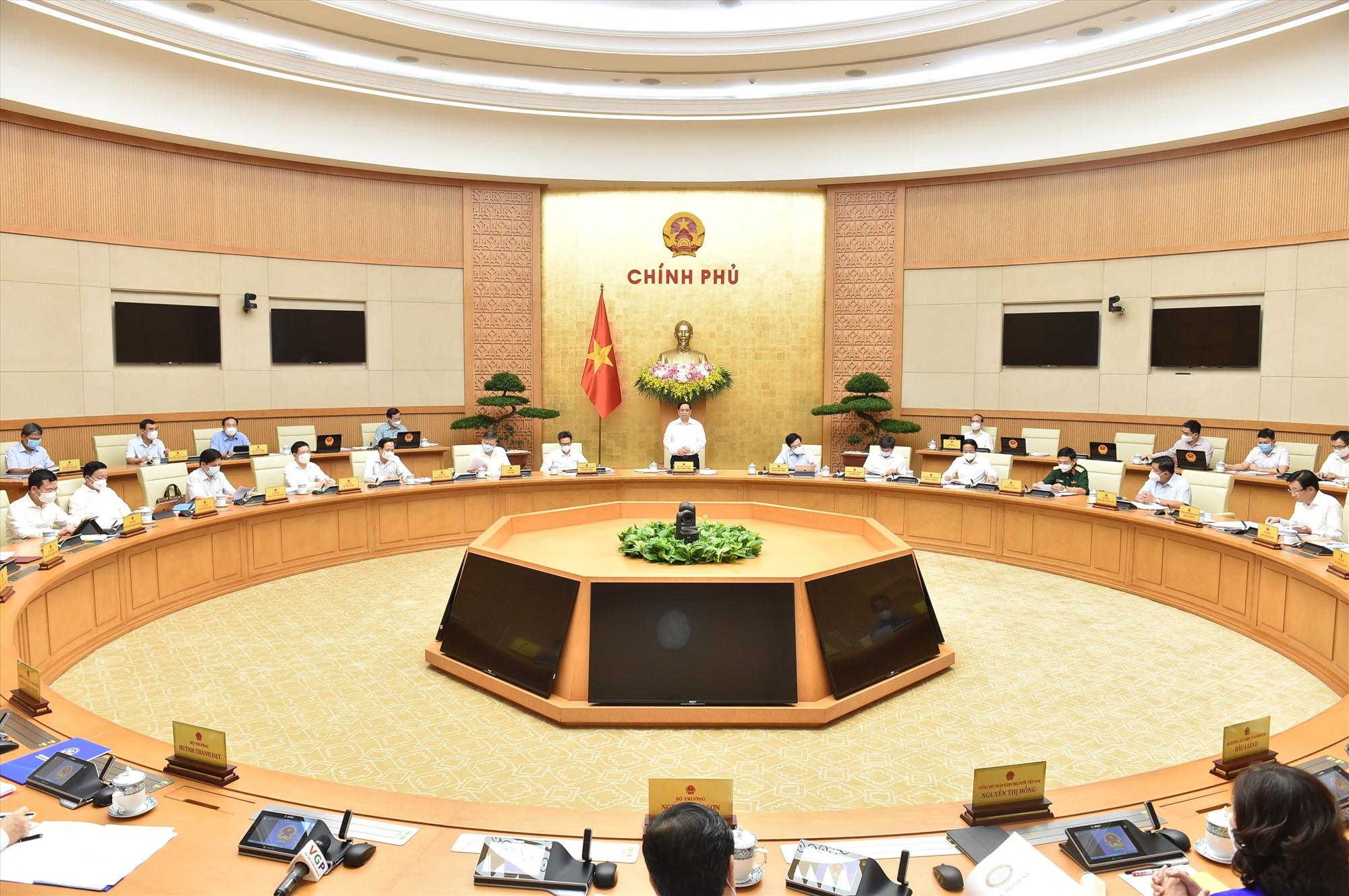 Một phiên họp Chính phủ - Ảnh: VGP