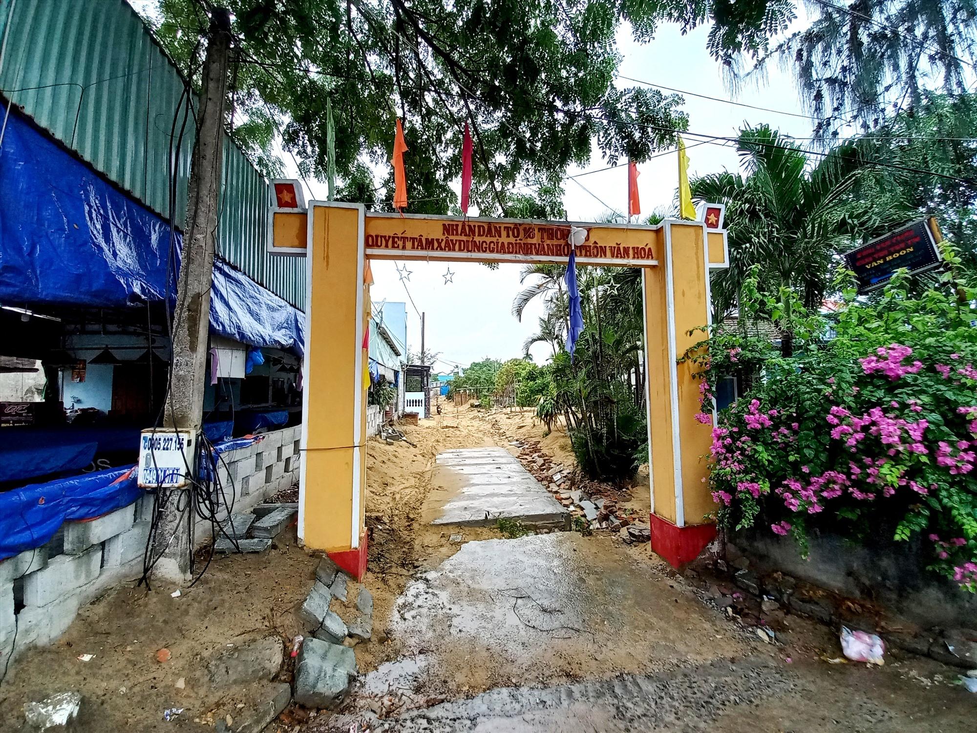 Vị trí thi công tuyến thoát nước số 3 tại Điện Bàn. Ảnh: CT