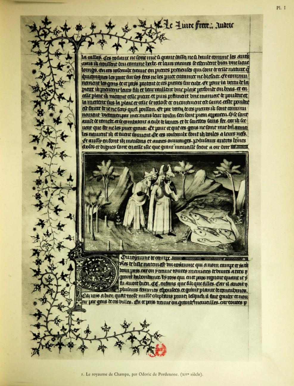 Ảnh minh họa thu nhỏ mô tả về vương quốc Champa của Odoric de Pordenone, cuối thế kỷ XIV.