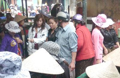 Chợ Trung Phước hôm nay. Ảnh: L.VŨ