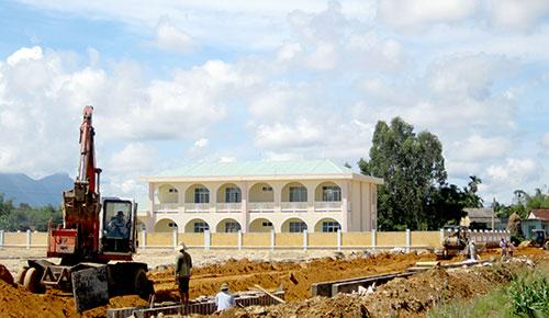 Khu tái định cư Kỳ Lam đang được triển khai xây dựng.Ảnh: CÔNG TÚ