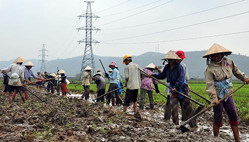 Nhờ làm tốt công tác dân vận, chủ trương dồn điển đổi thửa được nhân dân xã Duy Sơn tích cực hưởng ứng thực hiện. Ảnh: VINH ANH