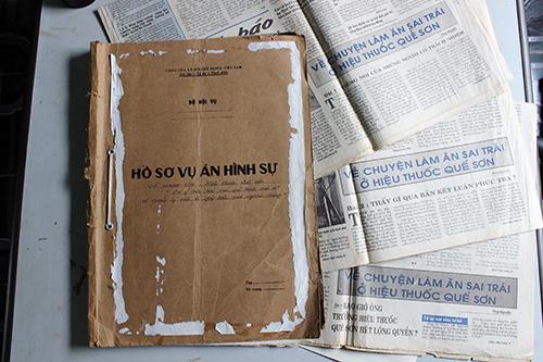 Những sai phạm của ông Sơn đã được báo chí phản ánh vào năm 1998 - Công an huyện Quế Sơn lập hồ sơ vụ án hình sự rồi trả lại, còn ông Sơn vẫn không bị ảnh hưởng gì (?).  Ảnh: D.L