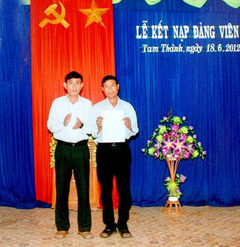 Thời gian qua, Đảng ủy xã Tam Thành (Phú Ninh) luôn chú trọng công tác phát triển đảng viên.