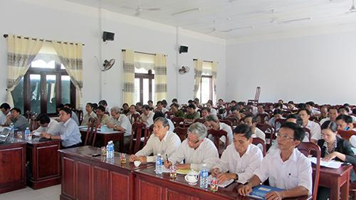 Một lớp đào tạo, bồi dưỡng lý luận chính trị của Trung tâm BDCT huyện Phú Ninh. Ảnh: NG.DƯƠNG