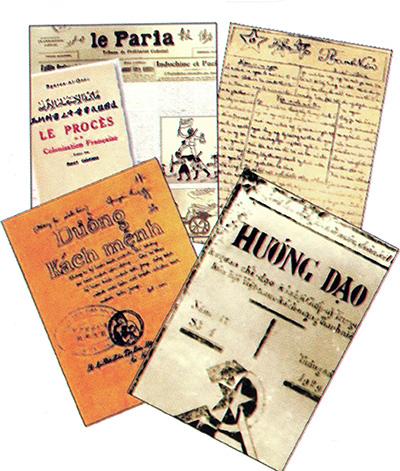 Những ấn phẩm của buổi đầu tuyên truyền đường lối cách mạng.Ảnh tư liệu