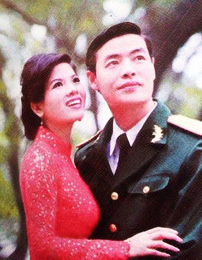 Vợ chồng Thượng úy Đặng Thành Nam.
