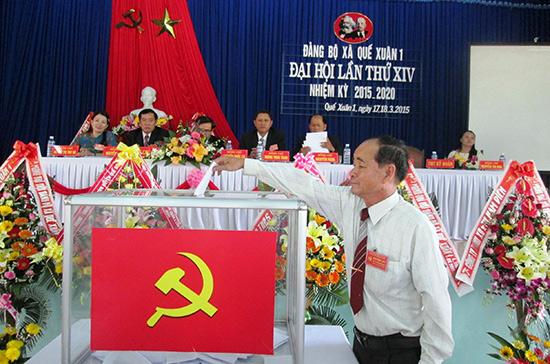 Đảng bộ xã Quế Xuân 1 được Huyện ủy Quế Sơn chọn tổ chức đại hội điểm.  Ảnh: VĂN SỰ