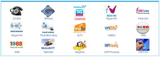 Một số dịch vụ của VNPT Quảng Nam.