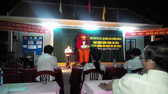 """Buổi lễ phát động nhân rộng mô hình """"Cây - dây - kẻng"""" ở phường Tân An, TP.Hội An."""