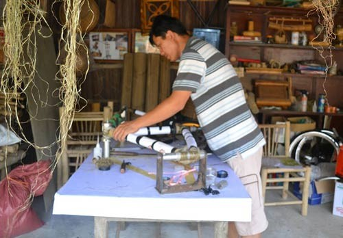 Vo Tan Tan grew up with bamboos and bamboo crafts
