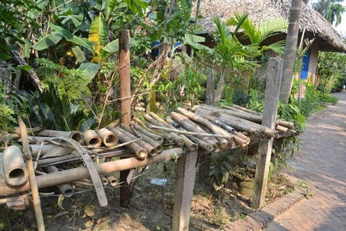 The chosen bamboos were soaked in salt water for 6 to 8 months then exposed to the sun…