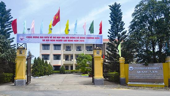 Trụ sở Công ty CP Xây dựng giao thông Quảng Nam tại phường Tân An, TP.Hội An. Ảnh: CÔNG ĐÔNG