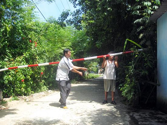 Gác chắn an ninh trật tự tại tổ 5A, khối phố Hương Sơn, phường Hòa Hương, TP.Tam Kỳ.