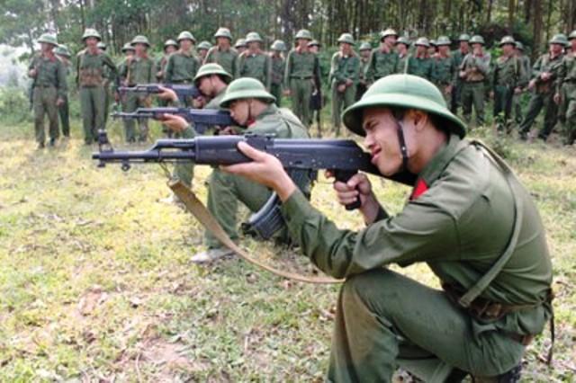Tổ chức diễn tập cho lực lượng dự bị động viên. Ảnh minh họa