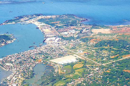 Một góc Khu kinh tế mở Chu Lai.