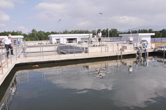 Hệ thống xử lý nước thải tại Khu công nghiệp Bắc Chu Lai.