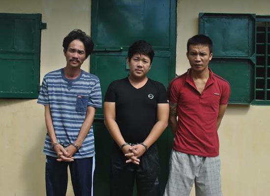 Các đối tượng Nguyễn Như Hùng, Trần Ngọc Thông, Nguyễn Thanh Dũng (từ trái qua phải).