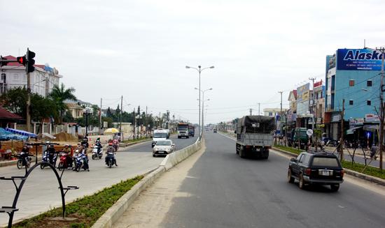 Dự án mở rộng, nâng cấp quốc lộ 1 qua địa phận Quảng Nam đã hoàn thành. Ảnh: PHƯƠNG THẢO