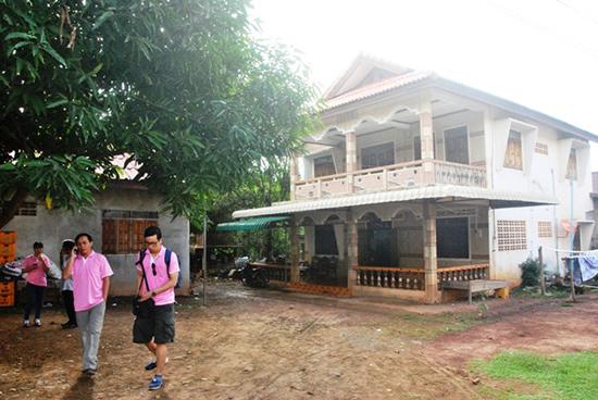 Căn nhà sàn 3 gian của gia đình ông Bô Nhơn ở bản Nộn-mi-say, huyện Lạ Màm. Ảnh: Điện Ngọc