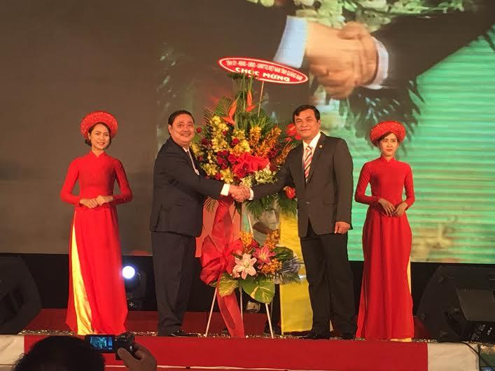 Phó Bí thư Thường trực Tỉnh ủy Phan Việt Cường tham dự ngày hội văn hóa đồng hương Quảng Nam tại TP.Hồ Chí Minh. Ảnh: CHI MAI