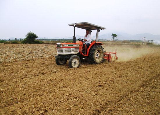 Nông dân trên địa bàn tỉnh tập trung mọi nỗ lực cho khâu làm đất. Ảnh: N.V.S