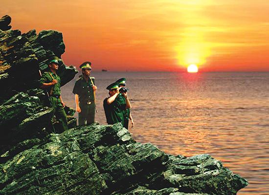 Tuần tra bảo vệ chủ quyền biển đảo quê hương. Ảnh: HỒNG ANH