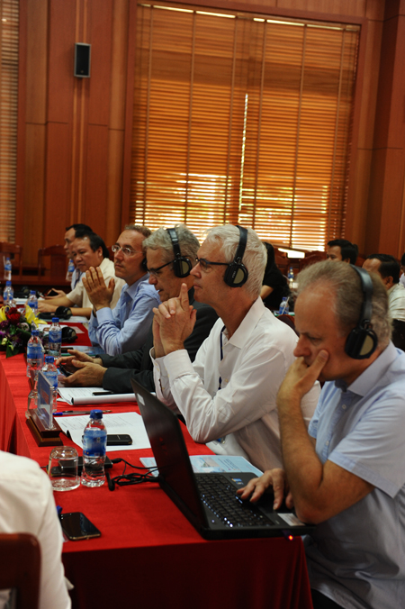 Hội thảo thu hút các chuyên gia, GS quốc tế tham dự. Ảnh MINH HẢI