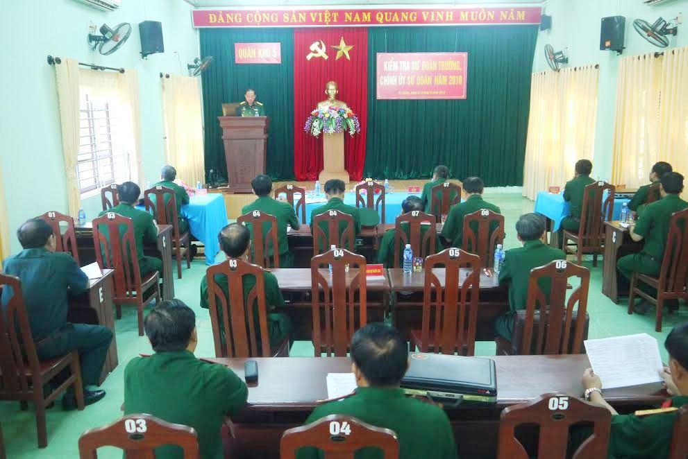 Quang cảnh khai mạc kiểm tra Sư đoàn trưởng, Chính ủy Sư đoàn năm 2016.