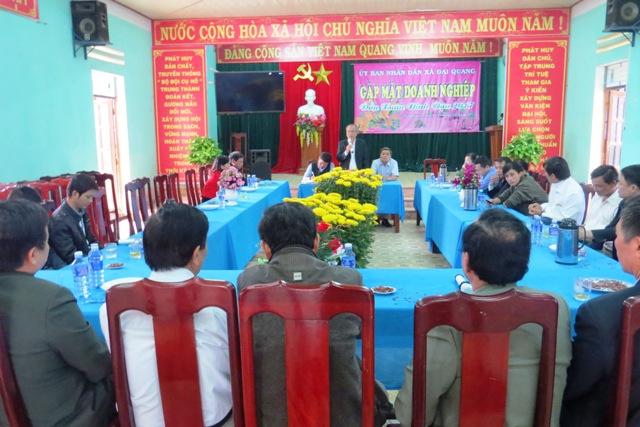 Xã Đại Quang gặp mặt, lắng nghe ý kiến của các doanh nghiệp đầu năm. Ảnh: BÍCH LIÊN