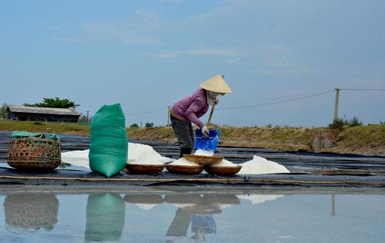 Thời điểm hiện tại, diêm dân Tam Hòa đang gặp khó khăn với nghề muối truyền thống. Ảnh: T.C