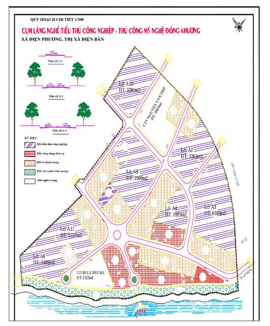 Quy hoạch chi tiết Cụm làng nghề Đông Khương.
