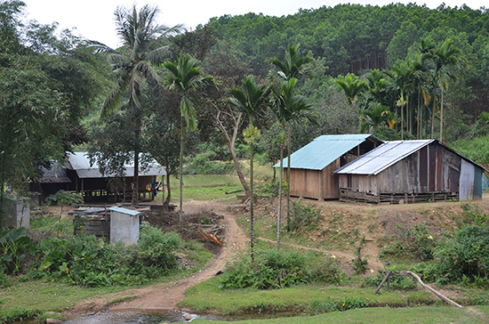 Làng Cao Sơn (xã Trà Sơn) được chọn làm điểm phát triển du lịch cộng đồng. Ảnh: BÍCH HẠNH