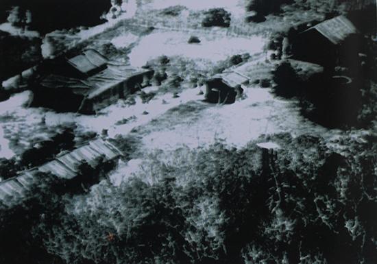 Khu đồn trú của lính địa phương quân trên đảo Hoàng Sa (ảnh chụp năm 1959). Nguồn: UBND huyện Hoàng Sa.